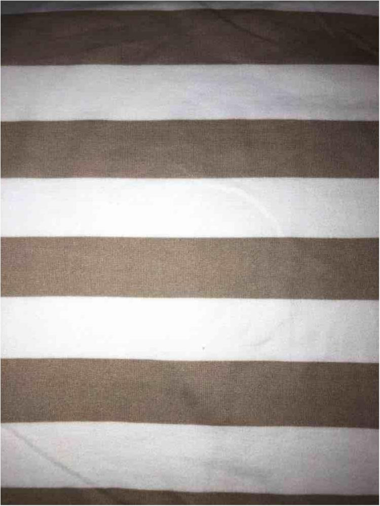 "5392-2070 / TAUPE/IVORY / 1"" X 1"" BRUSHED DTY STRIPES PRINT 180GSM"
