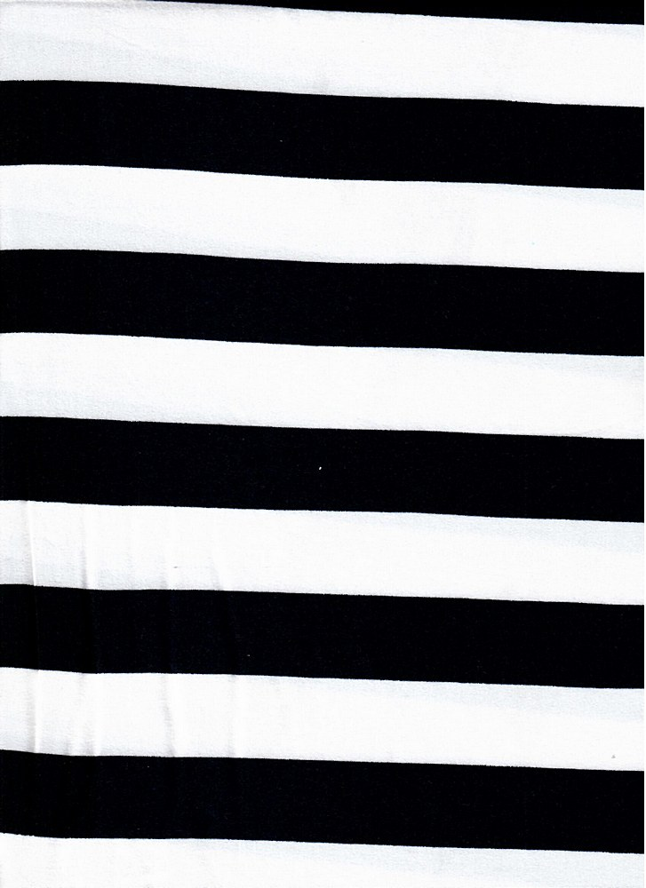 "5392-2070 / BLACK/IVORY / 1"" X 1"" BRUSHED DTY STRIPES PRINT 180GSM"