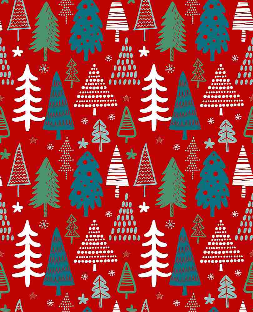 5410-2070 / RED / Christmas Trees