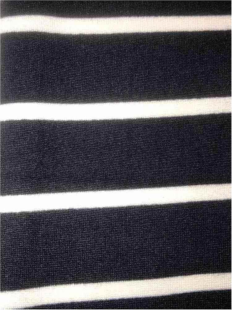 "5374-2070 / BLACK/IVORY / 1"" X 1/4"" BRUSHED DTY STRIPES PRINT 180GSM"