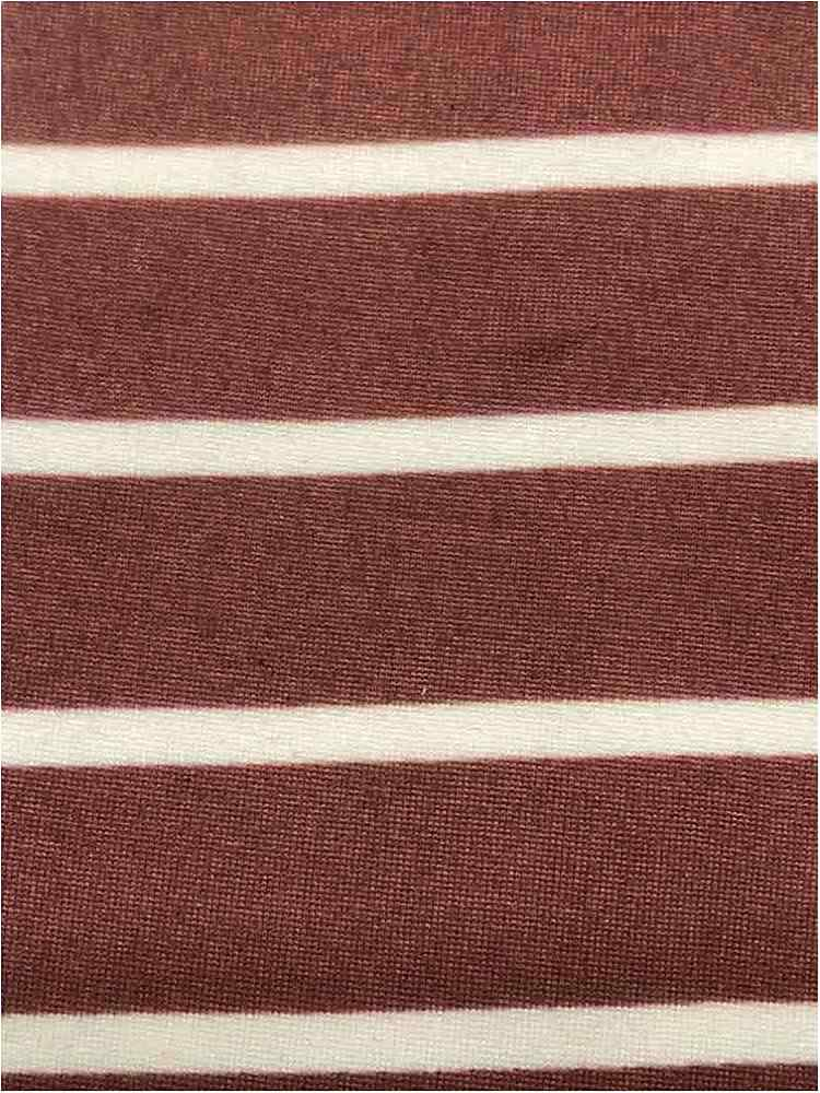 "5374-2070 / MAUVE/IVORY / 1"" X 1/4"" BRUSHED DTY STRIPES PRINT 180GSM"