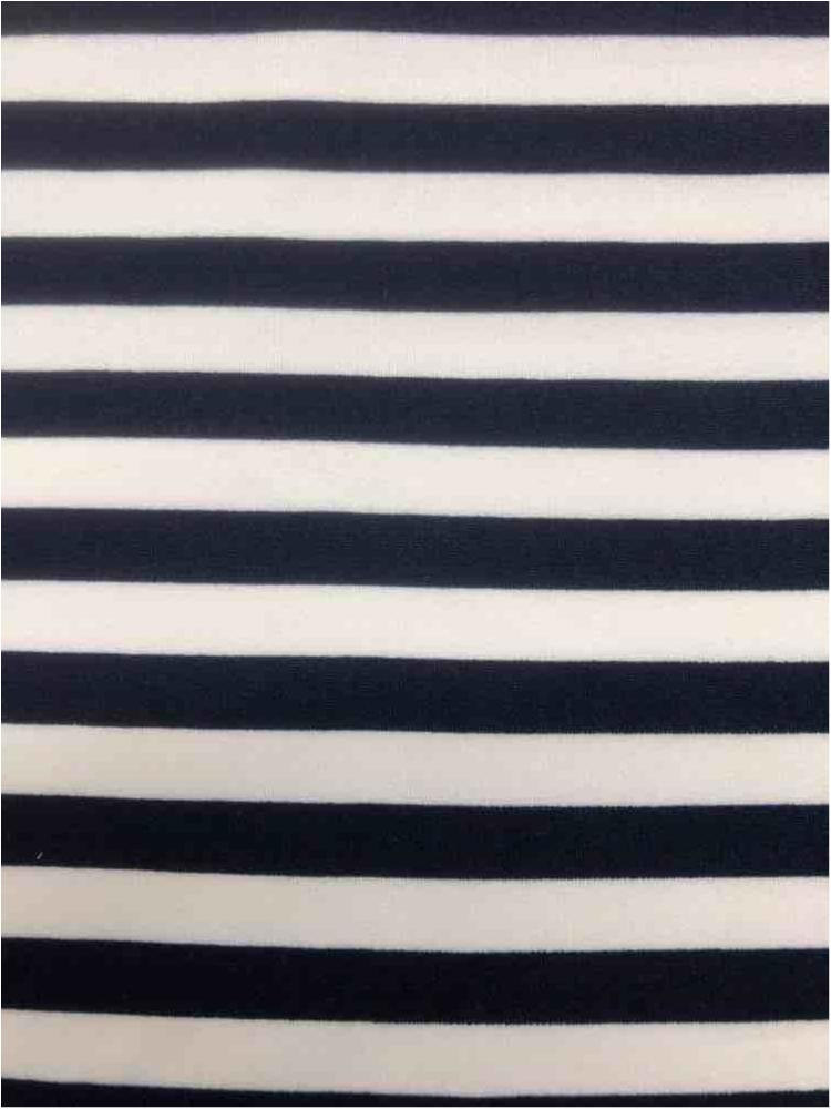 5437-2070 / NAVY/IVORY / 3/8 X Stripe PRINT On Dty Brush