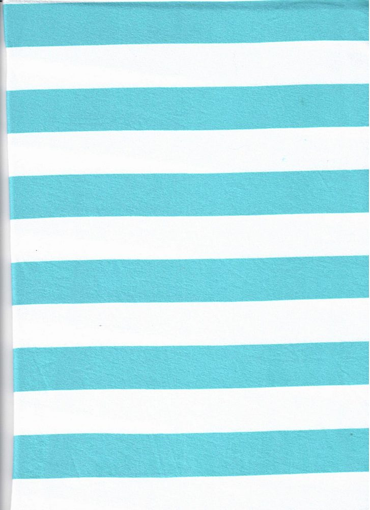 "5392-2070 / MINT/IVORY / 1"" X 1"" BRUSHED DTY STRIPES PRINT 180GSM"
