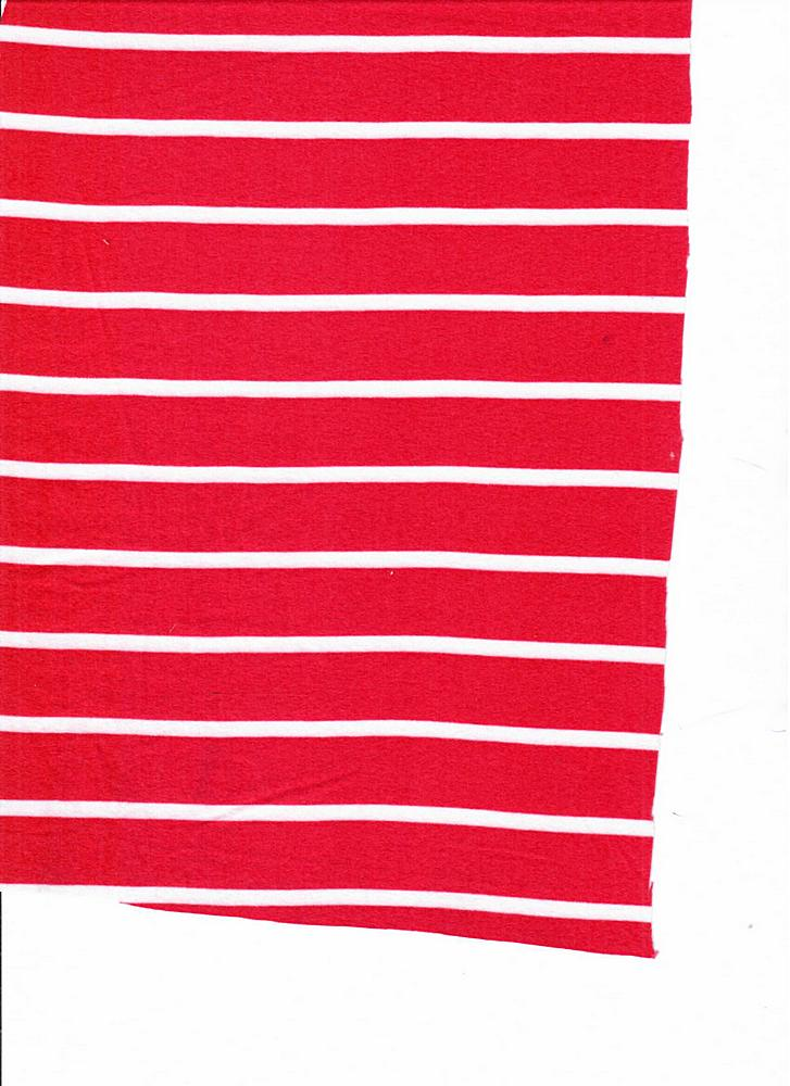 "5374-2070 / CORAL/IVORY / 1"" X 1/4"" BRUSHED DTY STRIPES PRINT 180GSM"