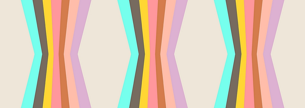 5438-ITY / PASTEL MULTI / Hourglass Stripe On Ity