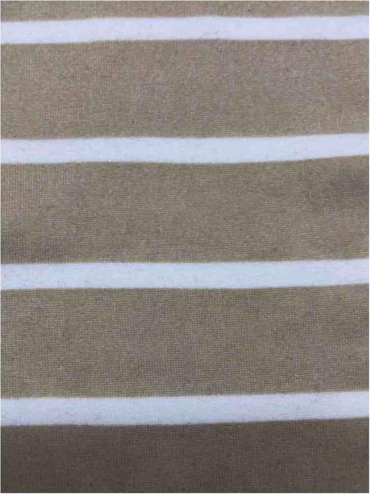 "5374-2070 / TAUPE/IVORY / 1"" X 1/4"" BRUSHED DTY STRIPES PRINT 180GSM"