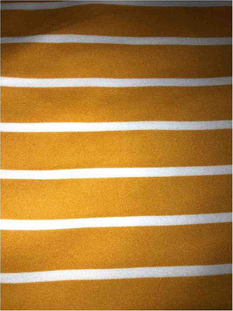"5374-2070 / MUSTARD/IVORY / 1"" X 1/4"" BRUSHED DTY STRIPES PRINT 180GSM"