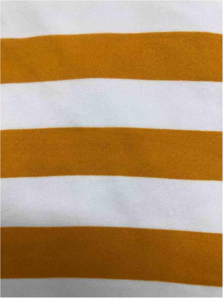 "5392-2070 / MUSTARD/IVORY / 1"" X 1"" BRUSHED DTY STRIPES PRINT 180GSM"