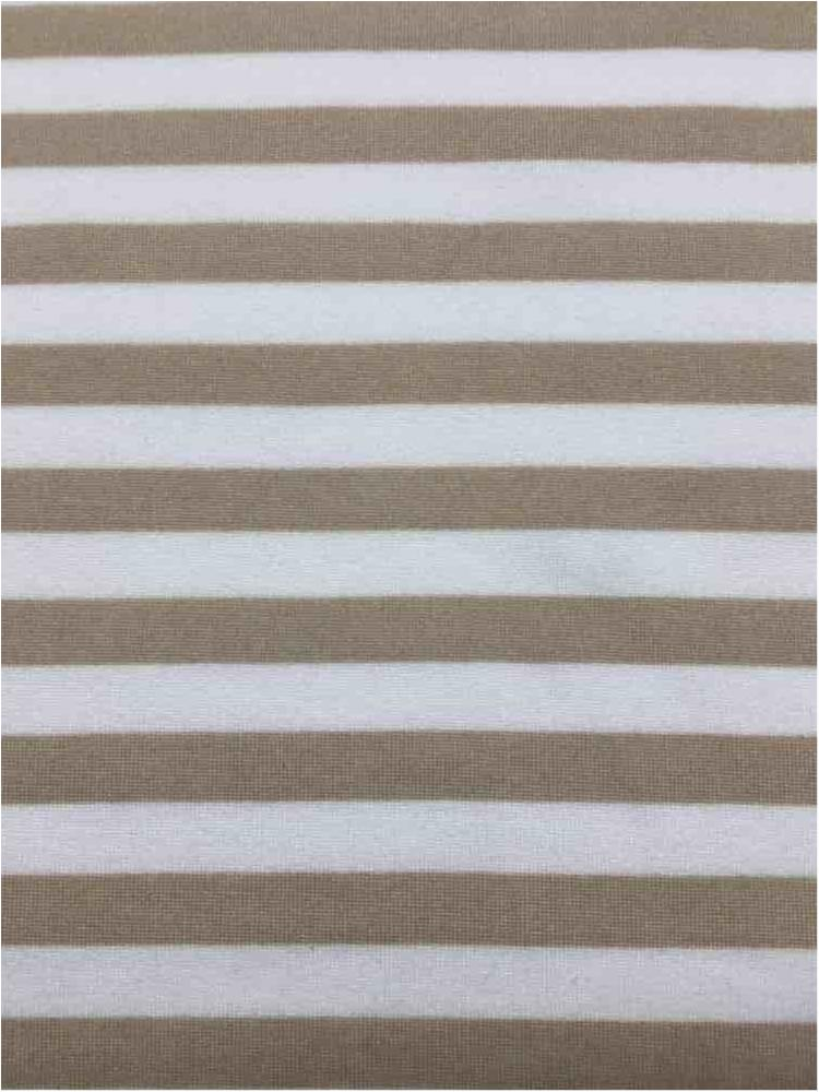 5437-2070 / TAUPE/IVORY / 3/8 X Stripe PRINT On Dty Brush