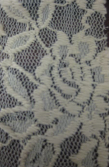 8080-024 / SAND / FLOWER TEXTURED NYLON LACE 92%NYLON 8%SP 130GSM