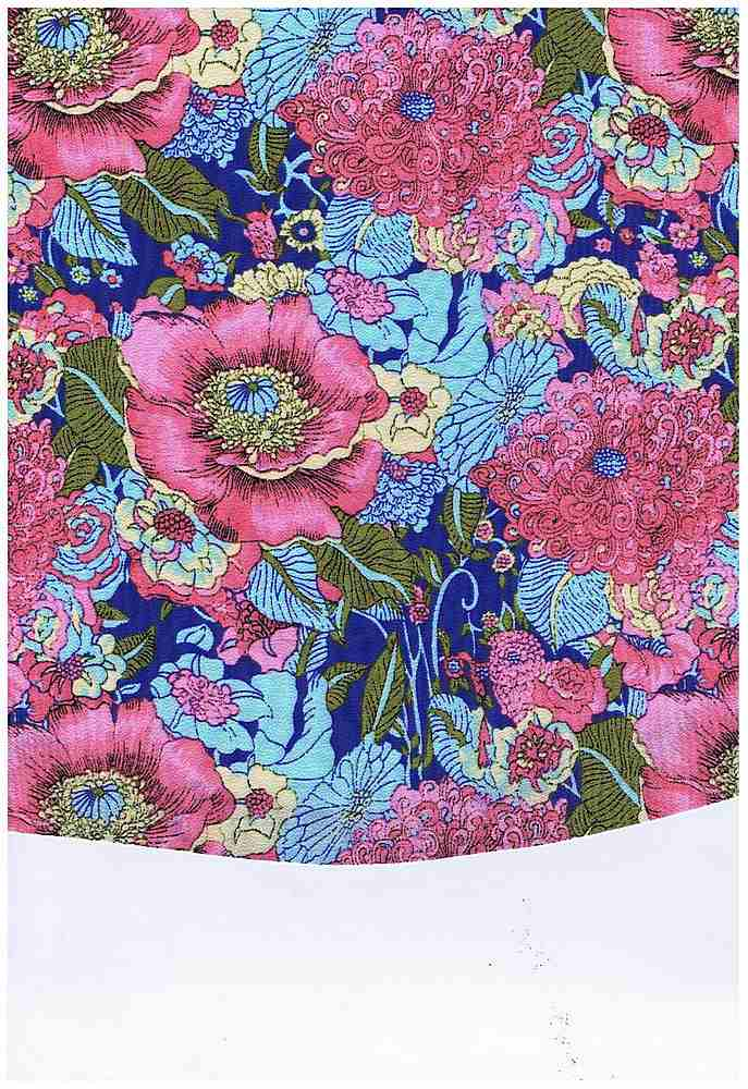 5028-8063 / PINK / BUBBLE CREPE 95%POLY 5%SPDX TROPICAL FLORALS
