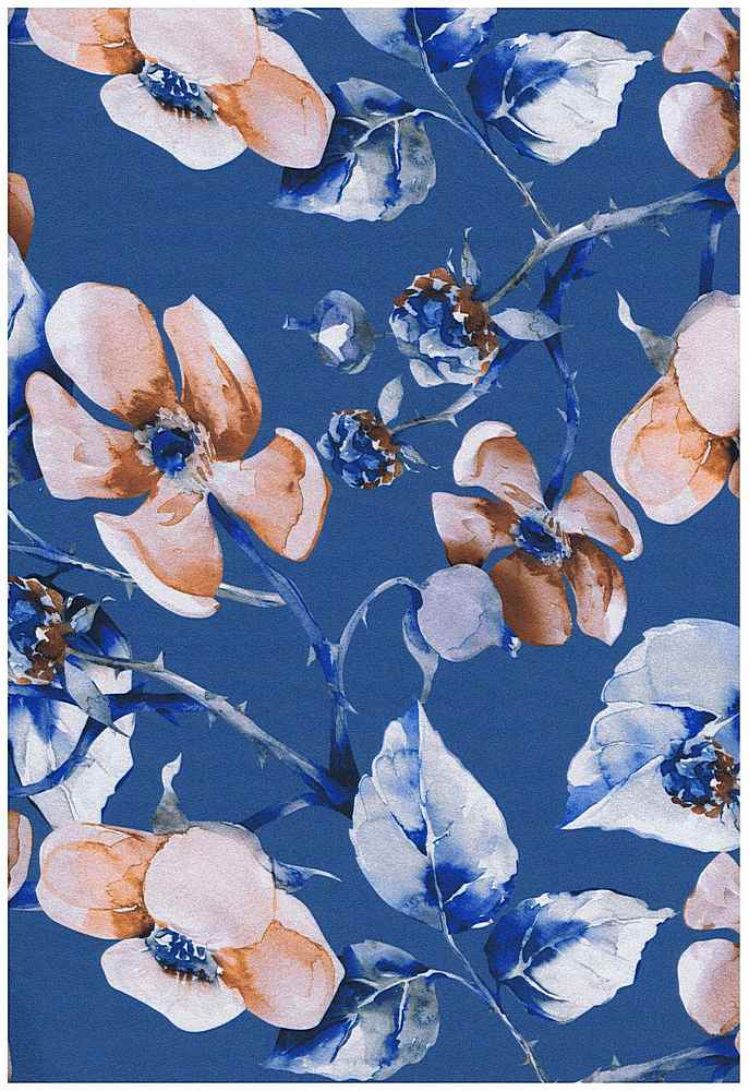 5059-2070 / BLUE/HAZEL / SUPER DTY BRUSH 93%POLYESTER 7%SPDX FLOWERS W/STEMS